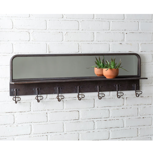 LARGE Entryway Mirror with Hooks