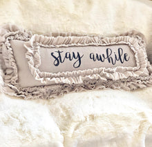 Handmade Vintage Inspired Stay Awhile Pillow Cover