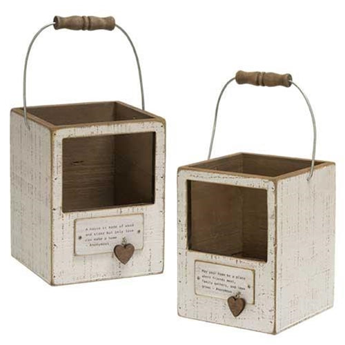 Sentiment Lanterns, Set of 2