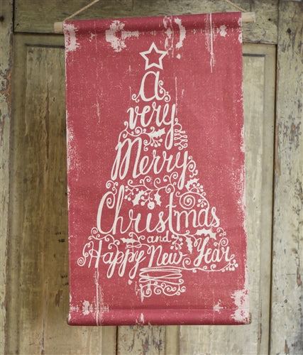 Vintage Style Christmas Tree Banner
