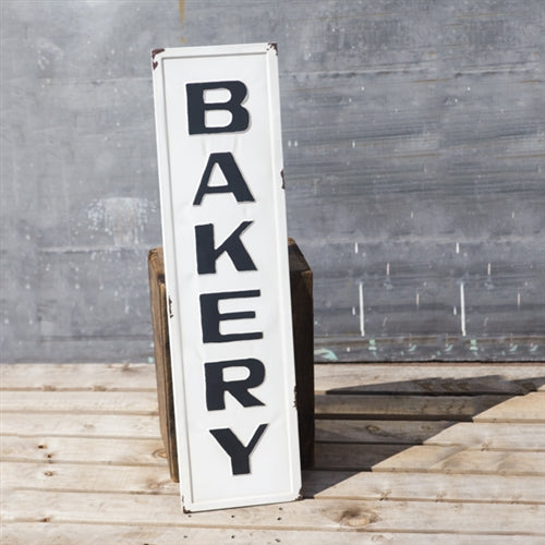 Vintage Embossed Metal BAKERY Sign, Small – Farmhouse