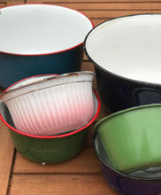 Authentic Vintage Enamelware 15 Piece Bowl Set