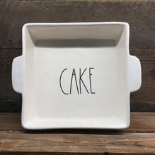 "New Rae Dunn by Magenta Large ""CAKE"" Casserole Dish/Pan"