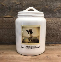 "New Rae Dunn by Magenta ""Have a Balanced Meal"" Dog Canister"