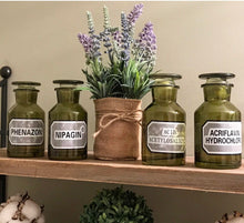 Authentic Vintage Apothecary Bottles, Set of 4