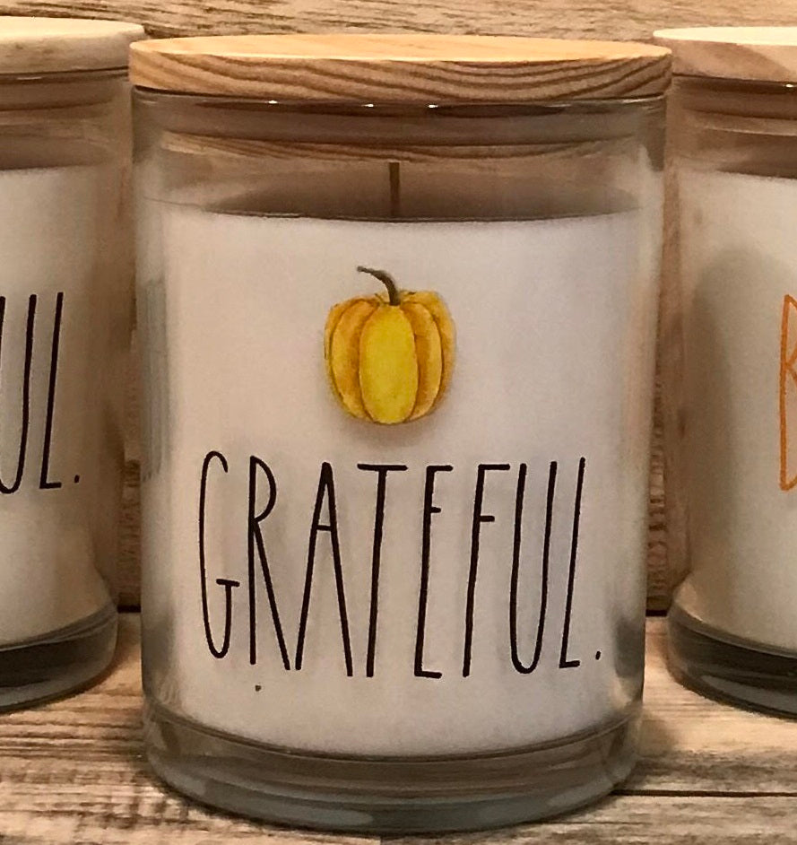 New Rae Dunn GRATEFUL Candle