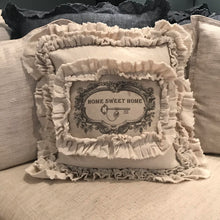 Handmade Vintage Inspired Home Sweet Home Pillow Cover