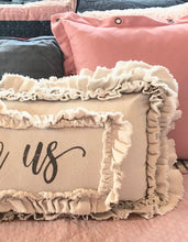 Handmade Vintage Inspired I Love Us Pillow Cover