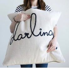 "HUGE Embroidered ""Darling"" Pillow"