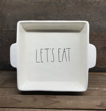 "New Rae Dunn by Magenta Large ""LET'S EAT"" Casserole Dish/Pan"