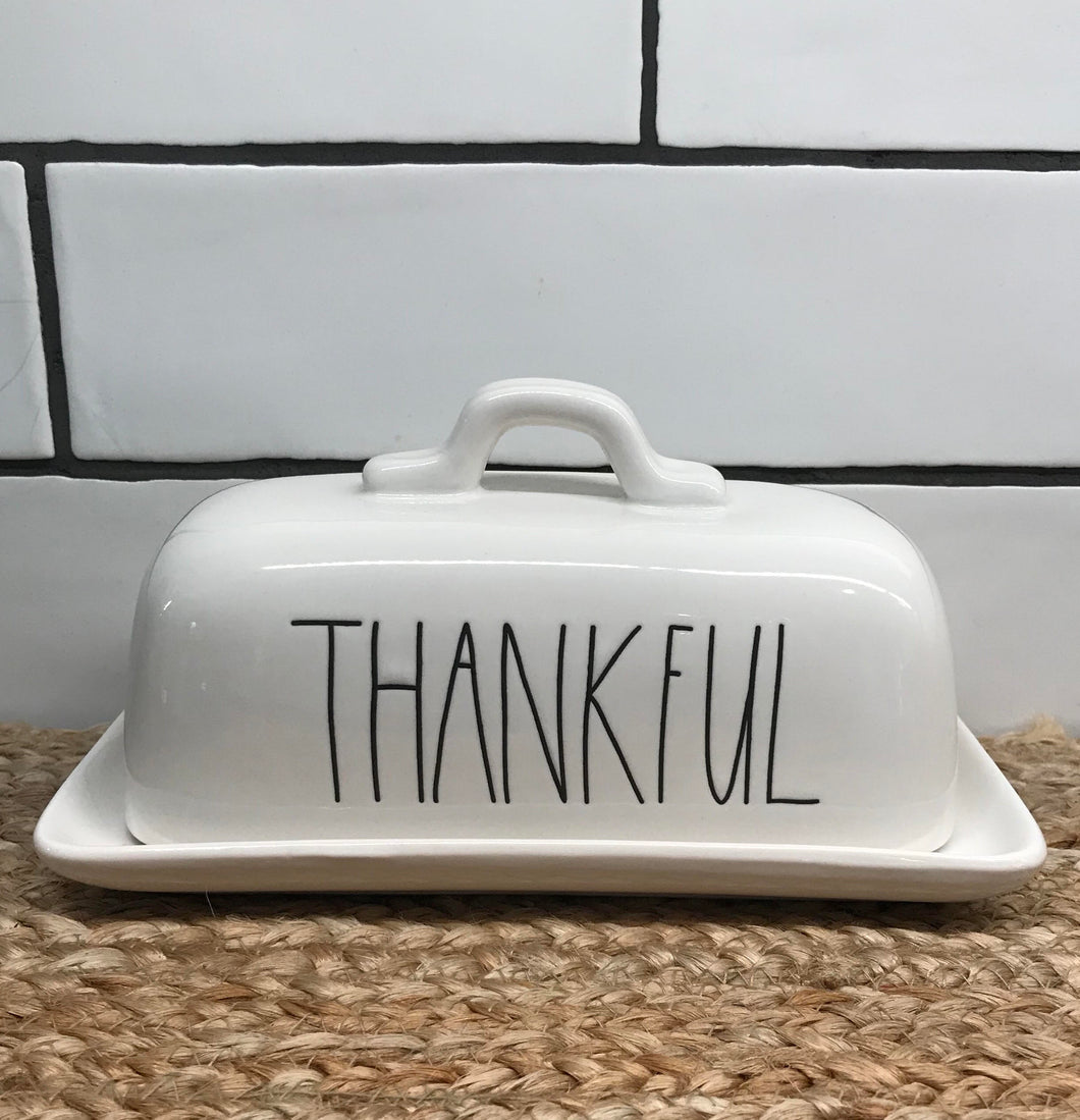 New Rae Dunn Thankful Butter Dish