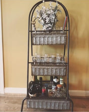 Three Tier Tall Galvanized Floor Display