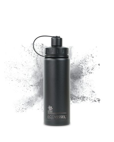 The Boulder - Insulated Stainless Steel Water Bottle w/ Strainer- 20 oz - Power Balance Engineered by EcoVessel