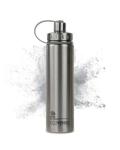 The Boulder - Insulated Stainless Steel Water Bottle w/ Strainer - 24 oz - Power Balance Engineered by EcoVessel