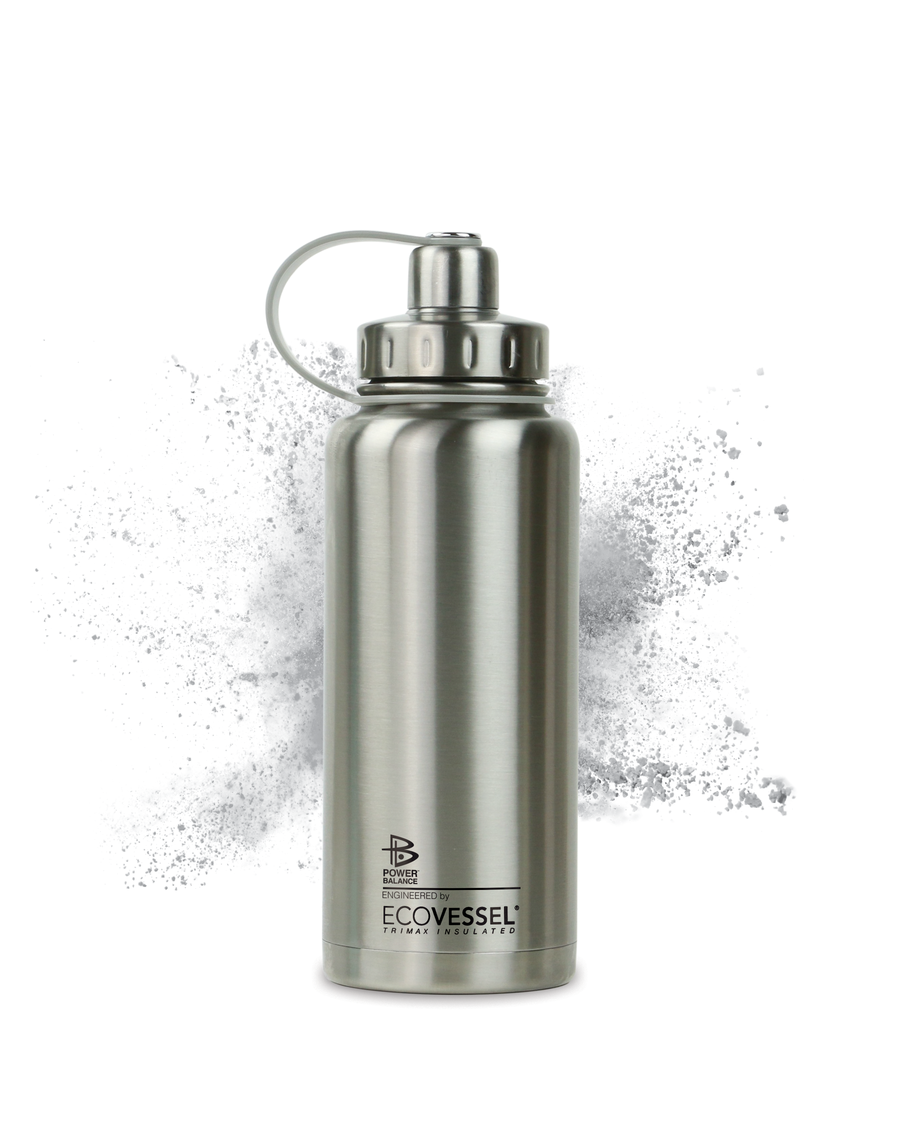 The Boulder - Insulated Stainless Steel Water Bottle w/ Strainer - 32 oz - Power Balance Engineered by EcoVessel