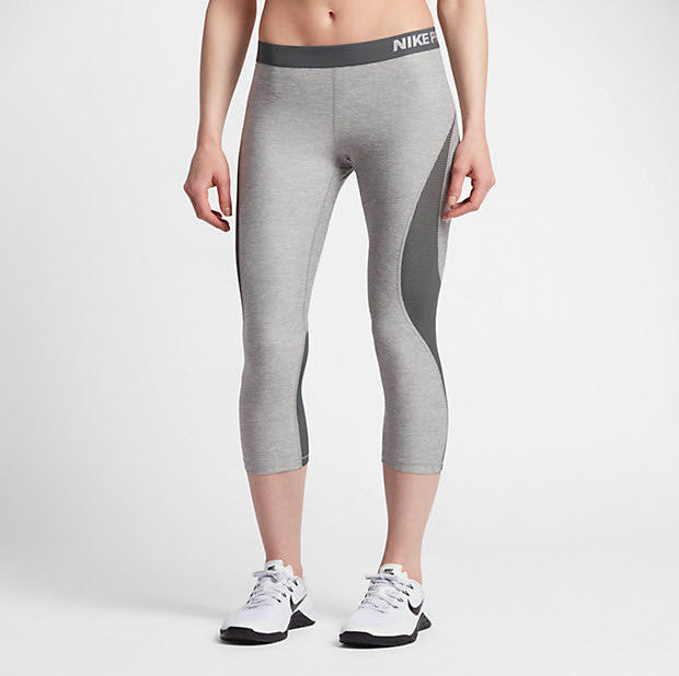 Grey PB FABA Womens Long Sports Capris