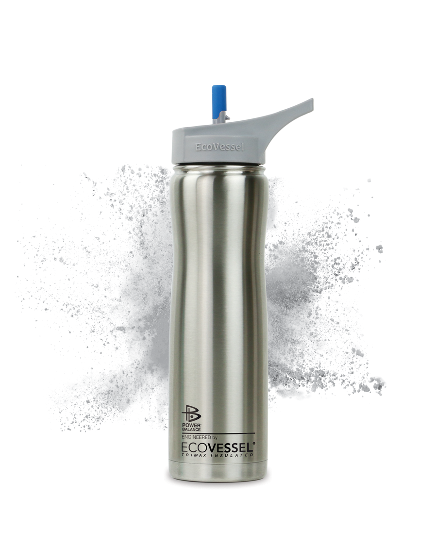 The Summit - Stainless Steel Insulated Water Bottle w/ Straw - 24 oz - Power Balance Engineered by EcoVessel