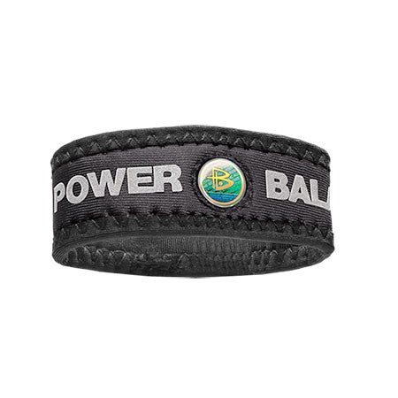 Neoprene - White Wristband / Black Lettering