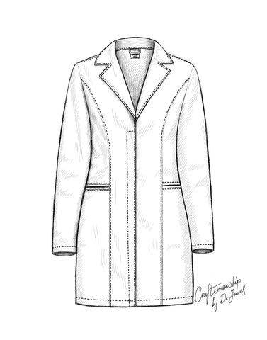 how to look good in a lab coat