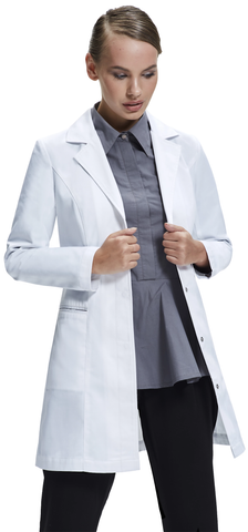 dr james fitted lab coat women