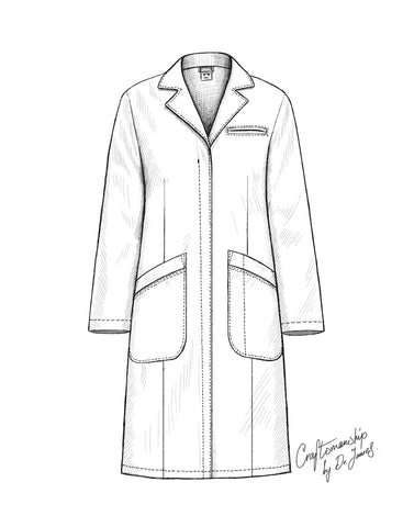 white lab coat by dr james