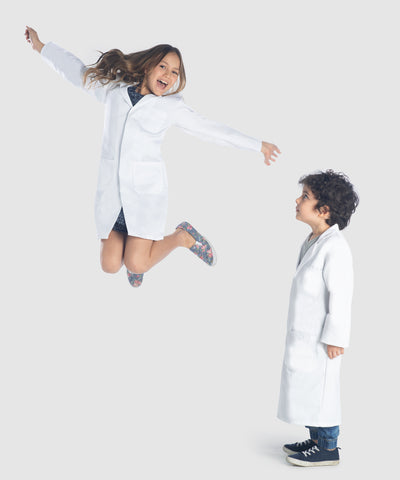 kids lab coats become women lab coats