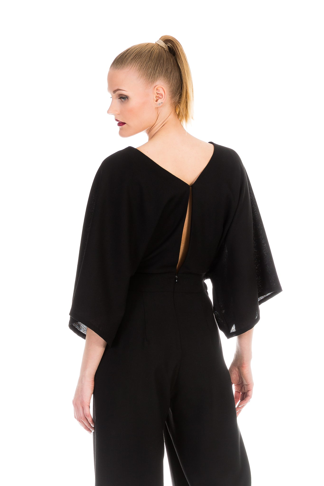 Jumpsuit, dark side, wool crepe