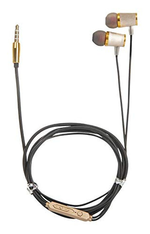 PremiumAV Home_EARPHONE-09 Stereo Headset Earphones (Gold)