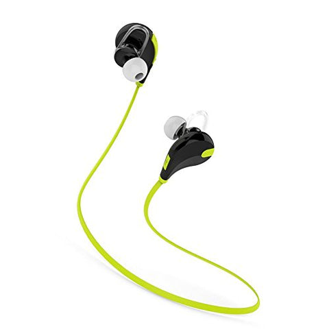 Bluetooth Headset - JOGGER® Wireless Sports Headphones with Mic || Noise Cancellation || Sweatproof Earbuds, Best for Running,Gym || Stereo Sound Quality || Compatible with Iphones, IPads, Samsung and other Android Devices... (Green)
