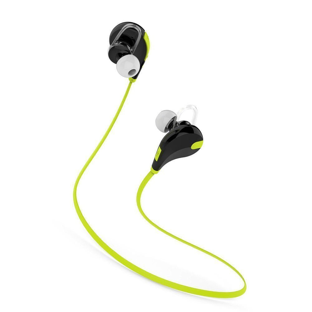 PremiumAV Mst-222 Wireless Sports Headphones With Mic & Noise Cancellation For All Smartphones (Green)