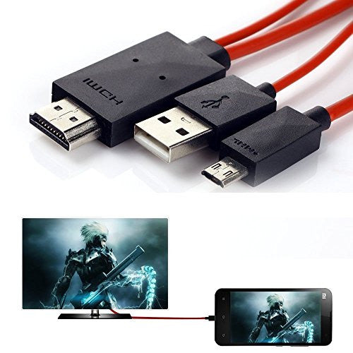 PremiumAV MHL Micro USB to Hdmi 1080p Hdtv Adapter Cable for S III / S4 / S5 / Note II / Note 3