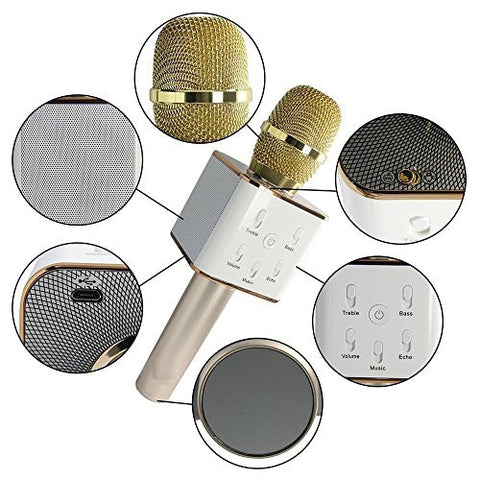 Multipurpose Handheld Wireless Karaoke Condenser Mic/Microphone with portable Bluetooth Speaker for Mobile