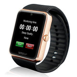 "Wiseupâ""¢ GT08 Bluetooth Smart Watch Mobile Phone with SIM Card GSM GPRS for Android Samsung HTC (gold)"