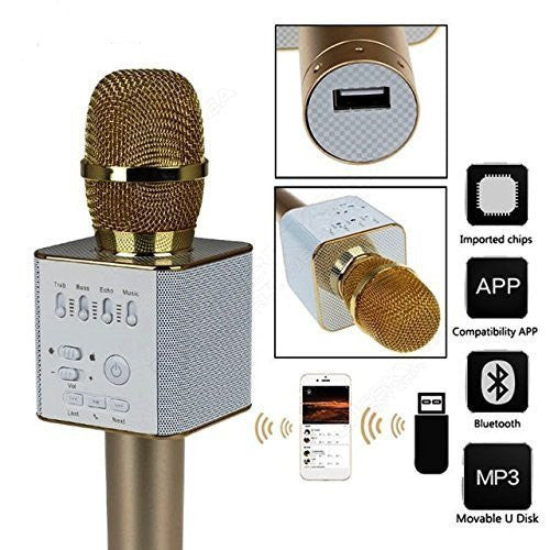 PremiumAV Portable Multi-function Bluetooth Microphone Karaoke with built in Speaker