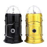 6 LED Solar Power Emergency Light Bulb (Lantern) - Travel Camping / Hiking Lantern - With 1 Watt LED FlashLIght and 3 LED Disco Bulb - Assorted Colours