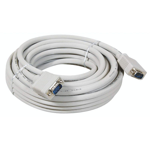 PremiumAV 15-Meter VGA to VGA Cable (White)