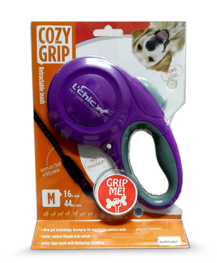 Super Dog Cozy Grip Retractable Leash for Dogs (Medium) Color May Vary