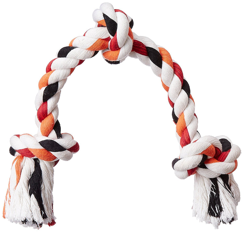 Pupkart Cotton, Plastic and Rubber Dog Rope Toy (XL)