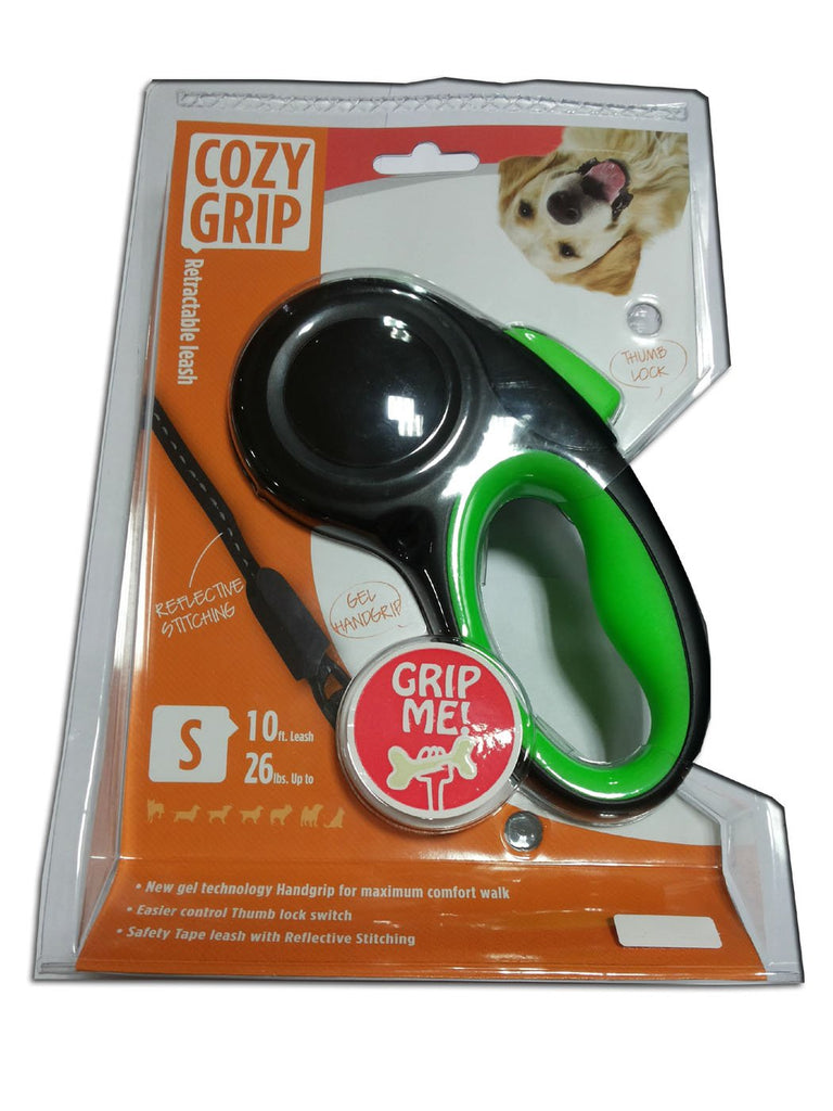 Super Dog Cozy Grip Retractable Leash for Dogs (Small)