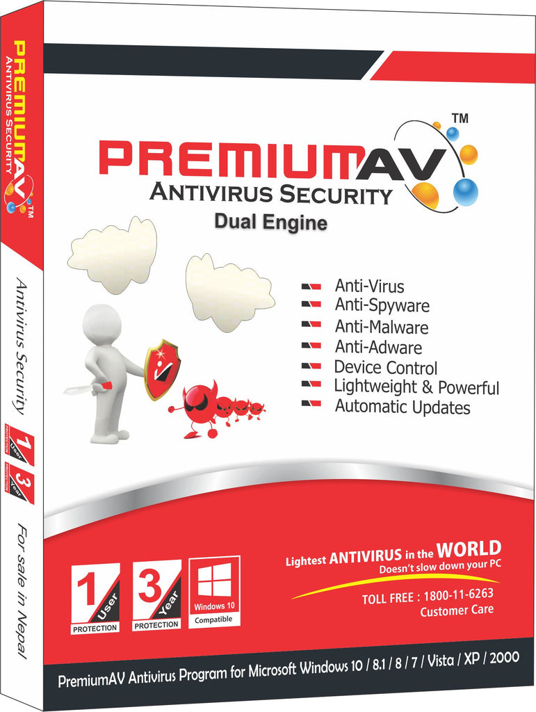 PremiumAV Antivirus Latest Edition - 1 USER 3 YEAR