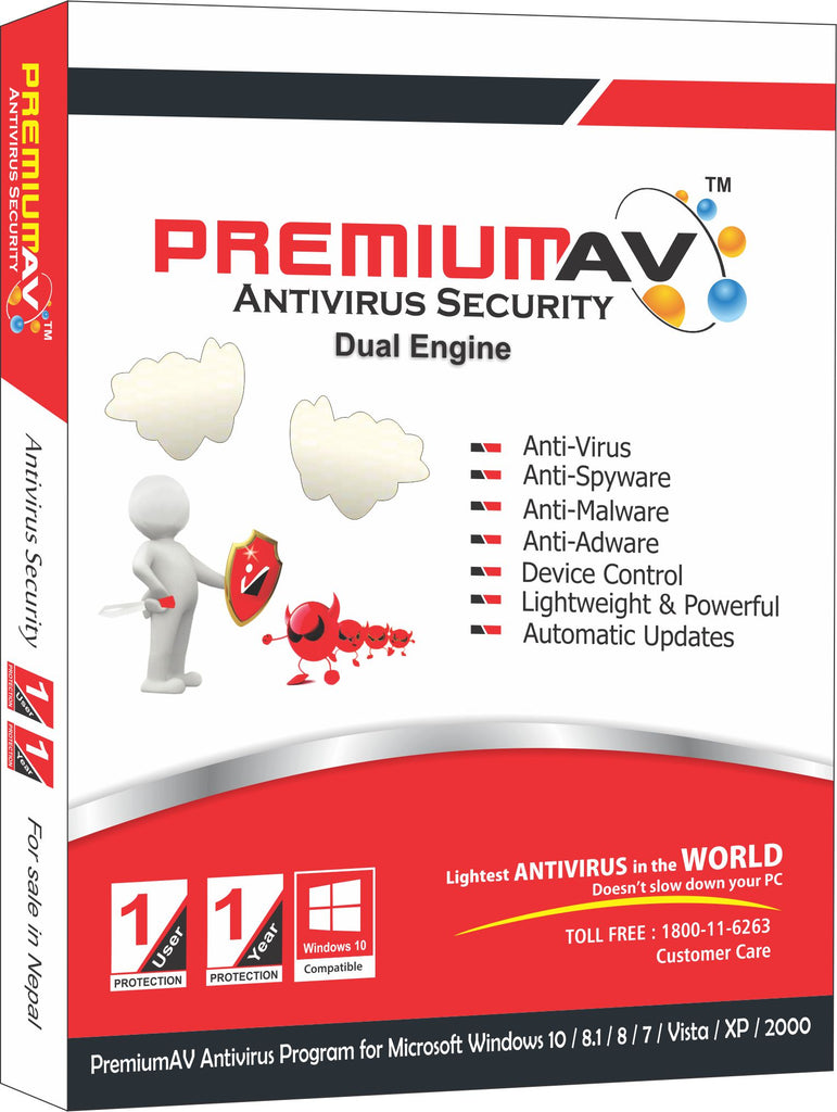PremiumAV Antivirus Latest Edition - 1 User 1 Year