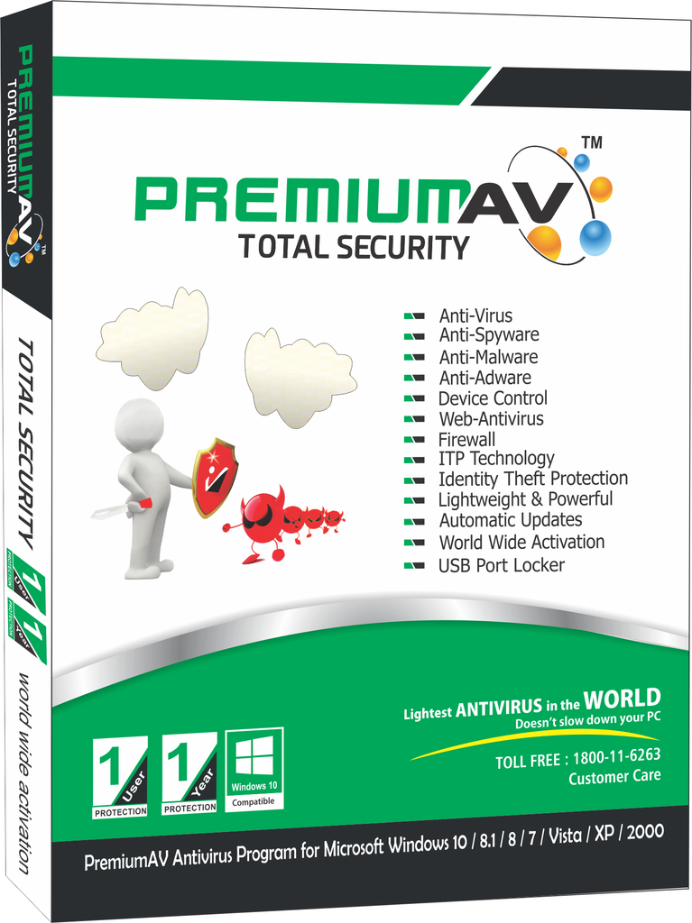 PremiumAV Total Security Latest Edition - 1 User 1 Year