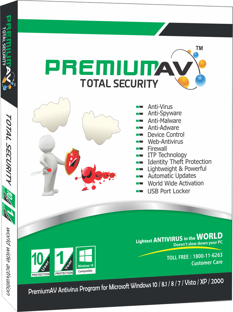 PREMIUMAV TOTAL SECURITY Latest Edition - 10 USER