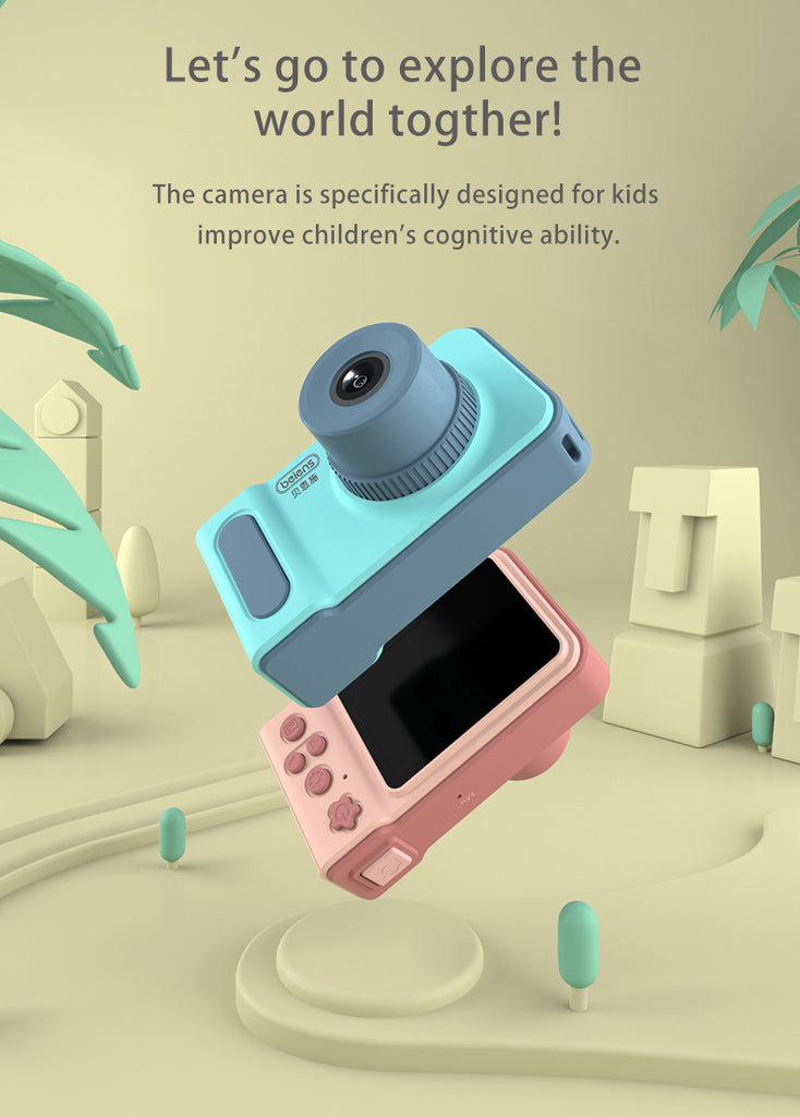 PremiumAV Kids Camera Toys Baby Cool Digital Photo Camera Children Educational Toy 12 Languages 32GB Supported