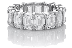 Diamond Emerald Cut Eternity Band 10 Carat Total Weight