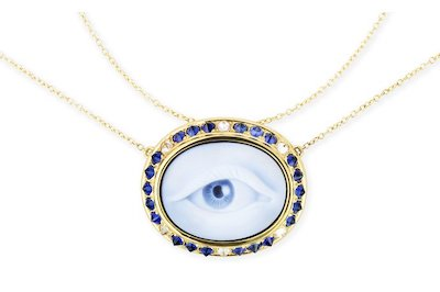Eye Love Sapphire Necklace