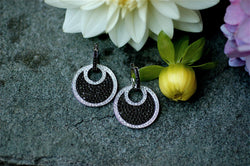 Black and White Diamond Pendant Earrings