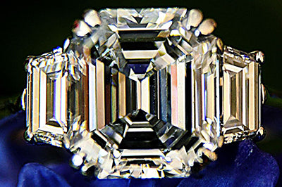 Classic Three-Stone Ring with Asscher Cut