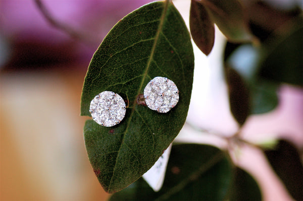 Cluster Diamond Stud