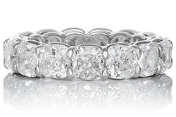 Cushion Cut Diamond Platinum Eternity Band